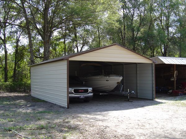 Boxed Eve Carports  - Carolina Carports Gallery