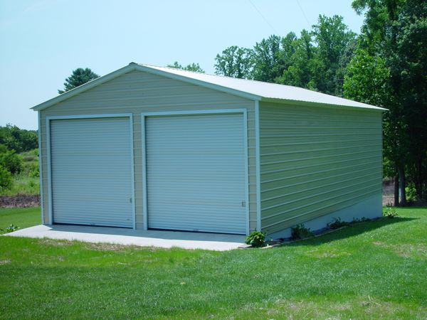 Enclosed Garage Carports #3  - Carolina Carports Gallery