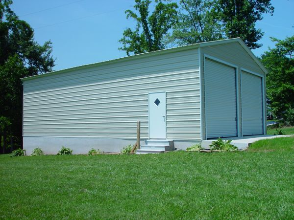 Enclosed Garage Carports #4  - Carolina Carports Gallery