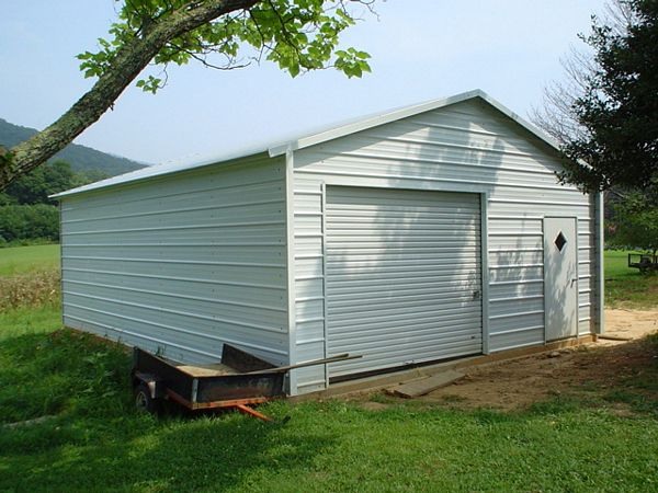 Enclosed Garage Carports #5  - Carolina Carports Gallery