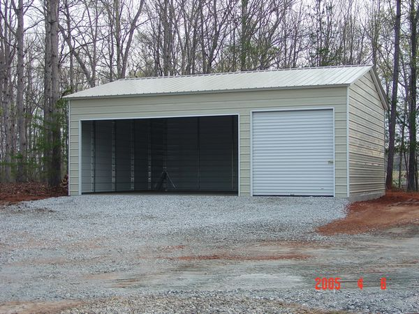 Enclosed Garage Carports #6 - Carolina Carports Gallery