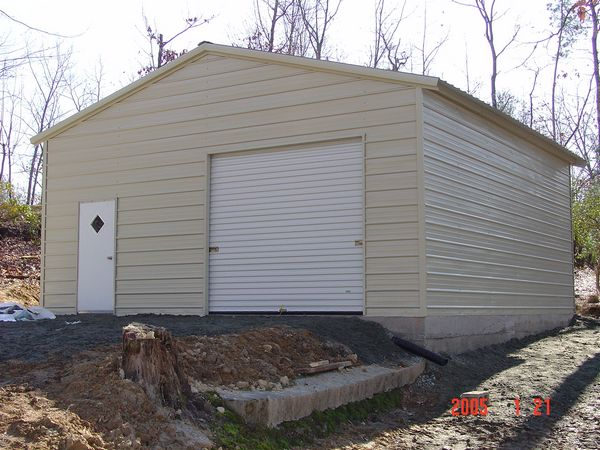 Enclosed Garage Carports #7  - Carolina Carports Gallery