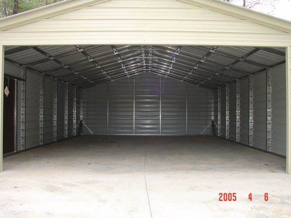 Enclosed garage carports carolina carports Garage carports