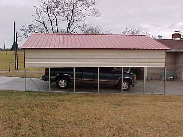 Vertical Roof Carports #2  - Carolina Carports Gallery
