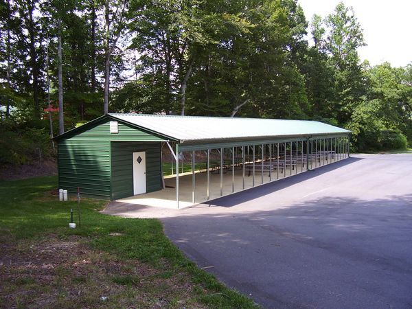 Vertical Roof Carports #3  - Carolina Carports Gallery