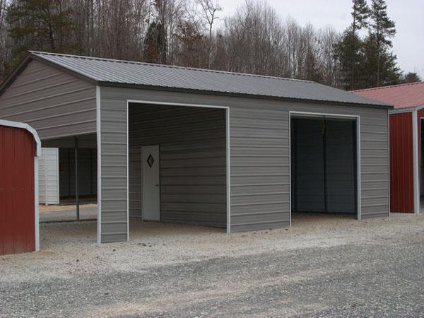Vertical Roof Carports #6 - Carolina Carports Gallery